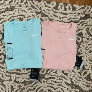 Nike Tops - 2-pack! Nike dri-fit tee in teal and pink Small